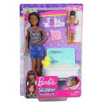 Boneca Barbie Skipper Babysitters Hora do Banho Mattel -