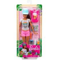 Boneca Barbie Spa Morena Articulada C/cachorro + Acessórios Grn66 - Mattel