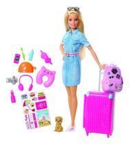 Boneca Barbie Viajante Explorar e Descobrir - Mattel FWV25 -