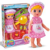 Boneca Bebê Bee Hugs Chef Papinha C/ Acessórios Para Cozinha - Beetoys