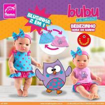 Boneca Bebê - Bubu e as Corujinhas - Hora do Banho - Roma -