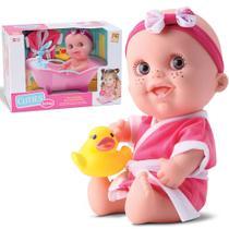 Boneca Bebê Com Patinho E Banheira Que Sai Água - Beetoys Brinquedos -