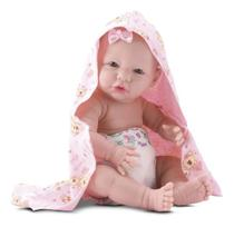Boneca Bebe Estilo Bebe Reborn Banho De Carinho Divertoys -