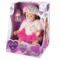 Boneca Bebe Kikita Doll Reborn com Mamadeira e Chupeta - Fênix -
