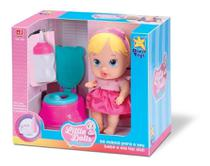 Boneca Bebê Little Dolls Faz Xixi Alive Menina - Divertoys -