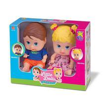 Boneca Bebê Little Dolls Gêmeos - Divertoys