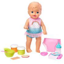 Boneca Bebê - Little Mommy - Faz Xixi Deluxe - Vesitdo Arco-Iris - Mattel -