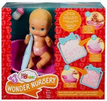 Boneca Bebê Little Mommy Surpresas Mágicas Banho - Acompanha Banheira Mamadeira Acessórios - Mattel -