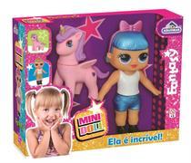 Boneca Bebê Mini Doll Fantasy Vinil Com Unicórnio - Adijomar