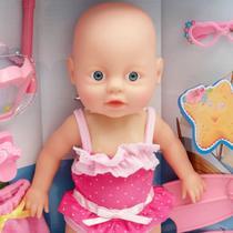 Boneca Bebê Nadadora A Prova De Água Com Acessórios Mergulho - Bhstore