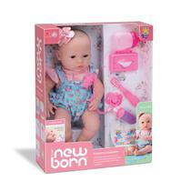 Boneca Bebê New Born Primeiros Cuidados e Faz Xixi Divertoys -