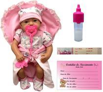 Boneca Bebê Real Menina Recém Nascida Bebezinho Da Mamãe Acessórios Estilo Rerborn - Cotiplás -