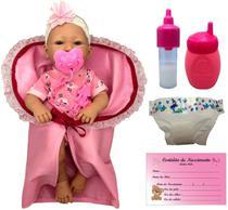 Boneca Bebê Real Menina Recém Nascida Newborn Bebezinho Da Mamãe Faz Xixi Estilo Reborn - Cotiplás -