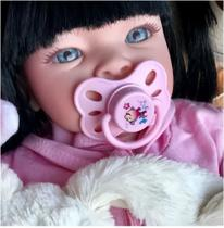 Boneca Bebê Realista - Mamadeira e Chupeta - Sid-nyl
