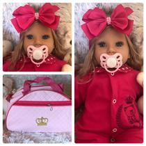 Boneca Bebê Realista Reborn Princesa Loira Alice - Sonho De Criança