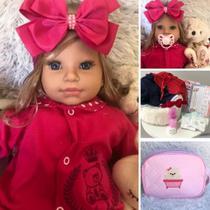 Boneca Bebê Realista Reborn Princesa Loira Pink Alice - Sonho De Criança
