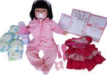 Boneca Bebê Realista Tipo Reborn Larinha Enxoval 17 Itens - Sonho De Criança