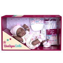 Boneca Bebe Reborn Boutique Dolls Negra Vinil Macio - Super - Super Toys