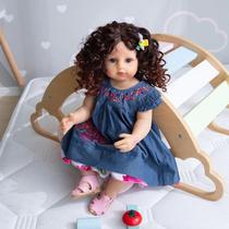 boneca bebe reborn cabelos longos corpo de silicone - Npk Collection