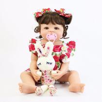 boneca bebe reborn corpo de silicone com pelúcia - Bzdoll