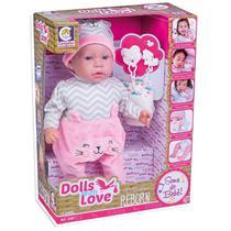 Boneca Bebê Reborn Dolls With Love Cotiplás - Cotiplas