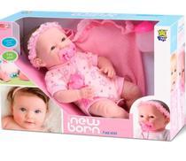 Boneca Bebê Reborn Faz Xixi C/ Mamadeira E Chupeta - Divertoys