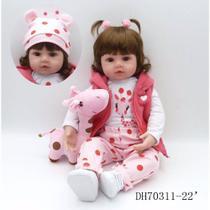 Boneca Bebê Reborn Menina 48cm Realista -