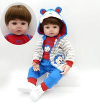 boneca bebe reborn menino 50cm corpo de pano super macio - bzdoll