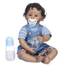 boneca bebe reborn menino 50cm corpo de pano super macio - Dominio Imports