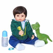 boneca bebê reborn menino corpo vinil silicone macio 55 cm pronta entrega - Bzdoll
