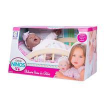 Boneca bebê reborn negra sons de bebê 50cm - coleção ninos - Cotiplás