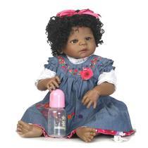 Boneca Bebê Reborn Negra (Verônica/ Inteira em Silicone) - 55 CM - Malki Toys