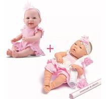 Boneca bebe reborn ninos + bebe dengo divertoys - Kit
