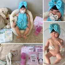 Boneca Bebê Reborn Princesa Morena Corpo de Silicone - Sonho De Criança