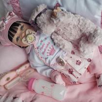 Boneca Bebê Reborn Real Brinquedo Menina Surpresa Rosa - Sidnyl