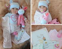 Boneca Bebê Reborn Realista 53cm Enxoval Sonho De Amor Loira - Sidnyl