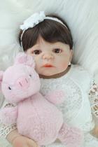 boneca bebe reborn realista corpo todo de silicone 55cm - Bzdoll