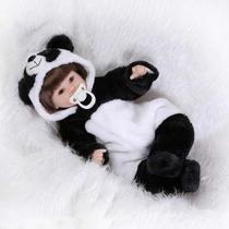 Boneca Bebê Reborn Realista Panda Silicone Pronta Entrega -