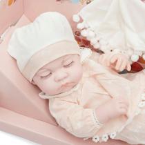 Boneca Bebê Reborn Recém Nascida Menina Realista Soneca - Bhstore