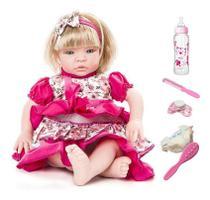 Boneca Bebe Tipo Reborn Completa Com Acessórios - Sid Nyl