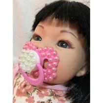 Boneca Bebe Tipo Reborn Realista com 9 Itens Barata - Carinha de anjo