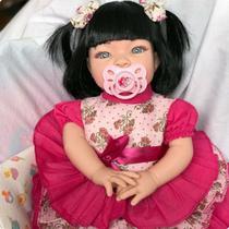 Boneca Bebê Tipo Reborn Realista - Kit Acessórios - Fantasy Baby