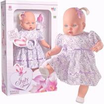 Boneca Bebezão Judy Fala 62 Frases, Meninas - Milk Brinquedos -