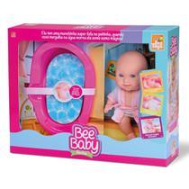 Boneca Bee Baby Banho Cu002F Banheirinha E Roupão - Beetoys Brinquedos -