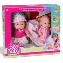 Boneca Bee Baby Passeio Com Bolsa Para Passeio  - BeeToys Brinquedos -