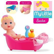 Boneca Brinquedo Baby My Little Colection Alive Banho Menina - Divertoys