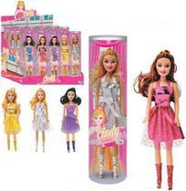 Boneca Cindy Bailarina Com Vestido Colors No Tubo - Wellmix