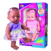Boneca Coleção Pepitinhas Negra 19CM Milk - Milk brinquedos