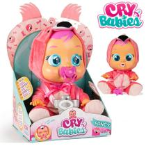 Boneca Cry Babies Flamy Flamingo com sons e lágrimas - Multikids