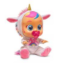 Boneca cry babies unicórnio dreamy chora com som e lagrima - Multikids Baby